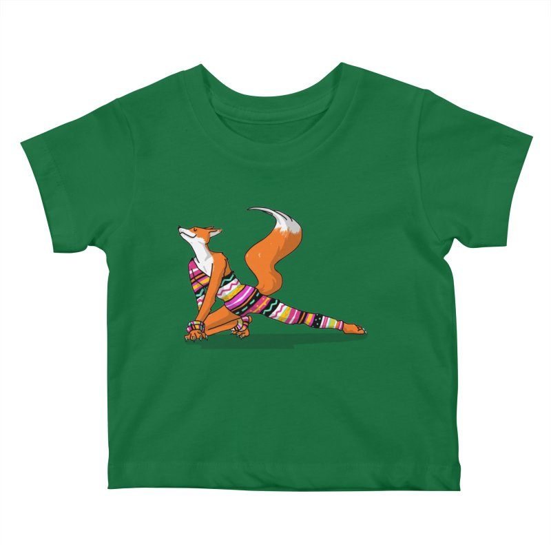 Let's dance! Dancing fox in David-bowie-inspired Eighties attire Kids Baby T-Shirt by Tostoini