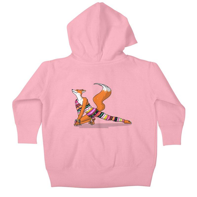 Let's dance! Dancing fox in David-bowie-inspired Eighties attire Kids Baby Zip-Up Hoody by Tostoini