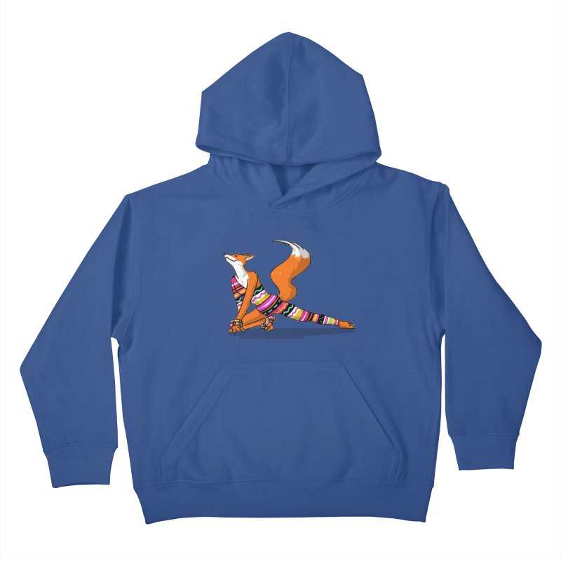 Let's dance! Dancing fox in David-bowie-inspired Eighties attire Kids Pullover Hoody by Tostoini