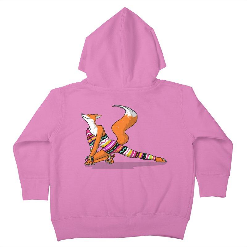 Let's dance! Dancing fox in David-bowie-inspired Eighties attire Kids Toddler Zip-Up Hoody by Tostoini