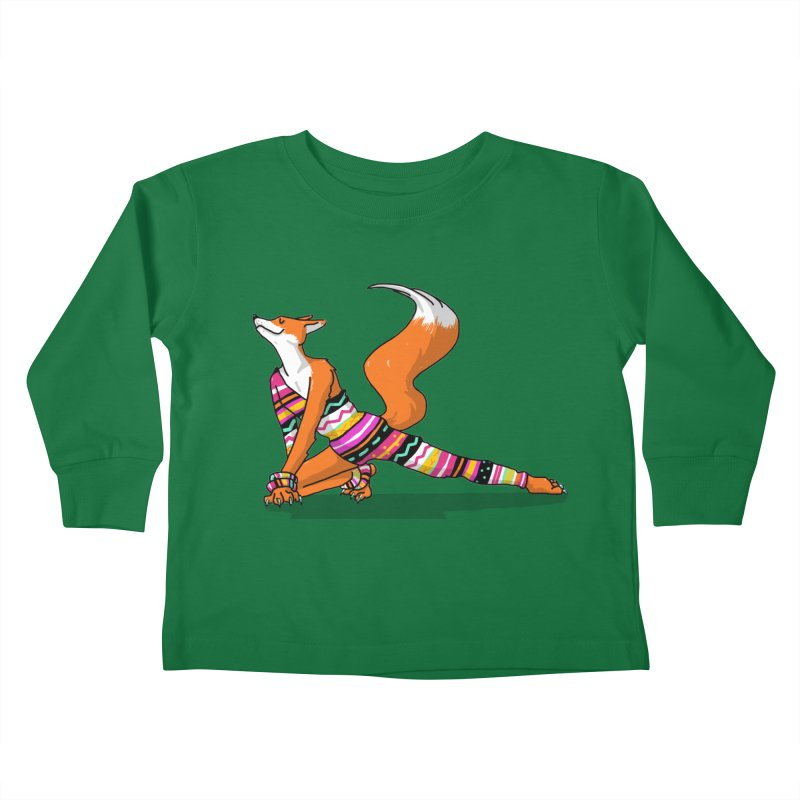 Let's dance! Dancing fox in David-bowie-inspired Eighties attire Kids Toddler Longsleeve T-Shirt by Tostoini