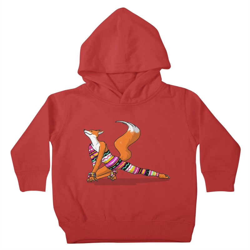 Let's dance! Dancing fox in David-bowie-inspired Eighties attire Kids Toddler Pullover Hoody by Tostoini