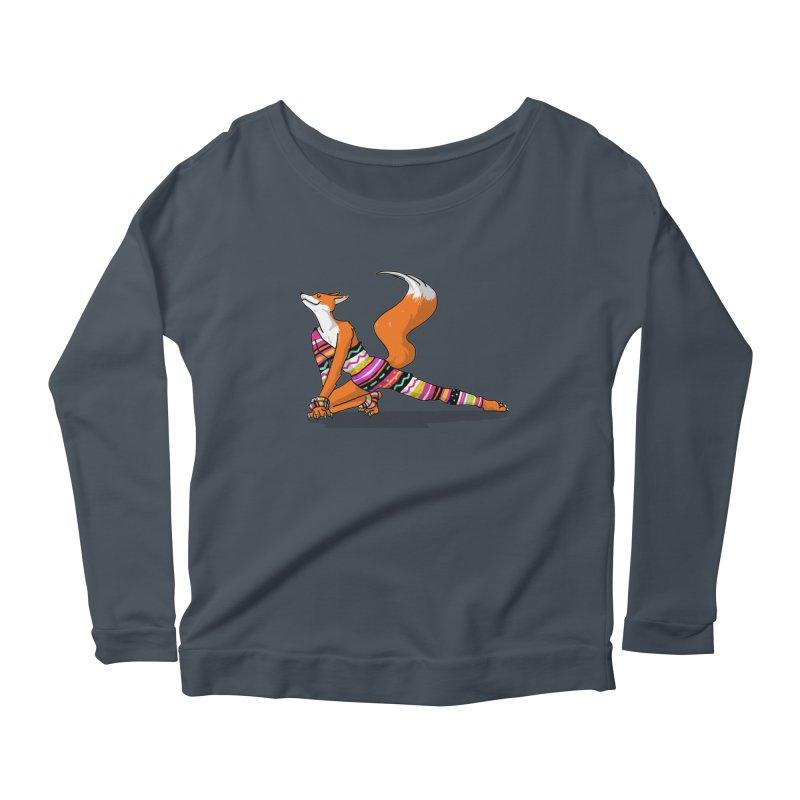 Let's dance! Dancing fox in David-bowie-inspired Eighties attire Women's Scoop Neck Longsleeve T-Shirt by Tostoini
