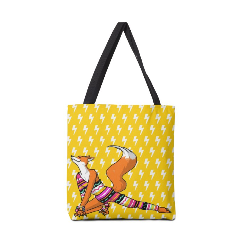 Let's dance! Dancing fox in David-bowie-inspired Eighties attire Accessories Tote Bag Bag by Tostoini