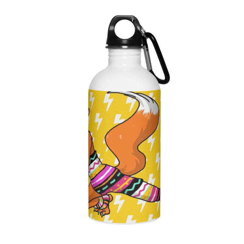 Let's dance! Dancing fox in David-bowie-inspired Eighties attire Accessories Water Bottle by Tostoini