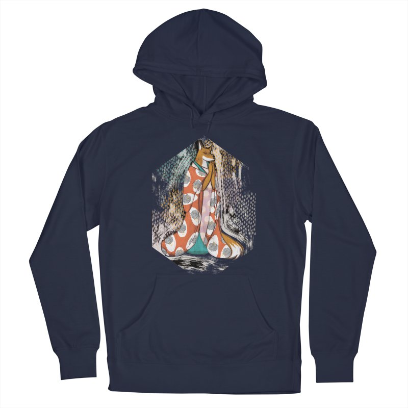 Madame Kitsune - fox illustration inspired by japanese folklore Men's Pullover Hoody by Tostoini