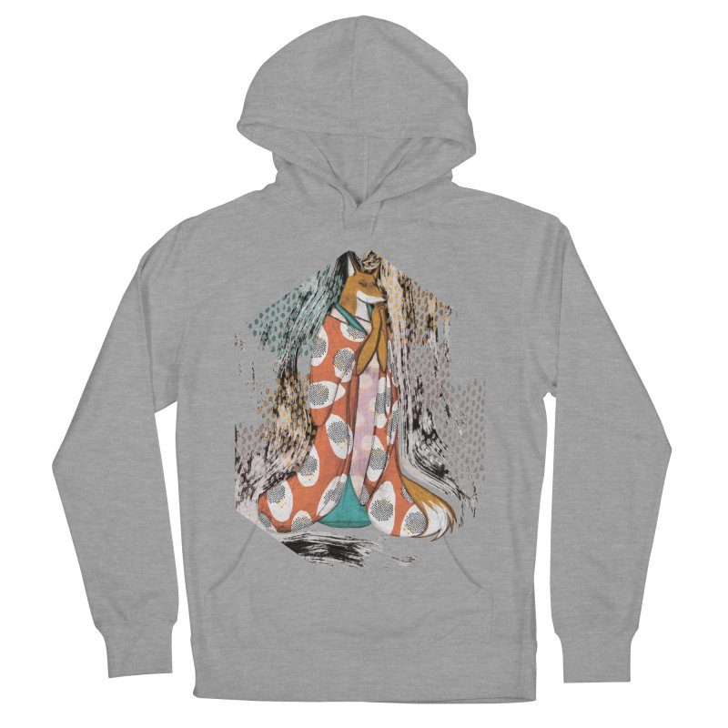Madame Kitsune - fox illustration inspired by japanese folklore Women's French Terry Pullover Hoody by Tostoini