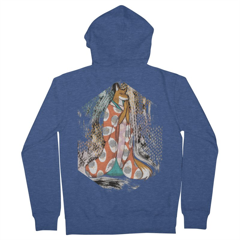Madame Kitsune - fox illustration inspired by japanese folklore Men's Zip-Up Hoody by Tostoini