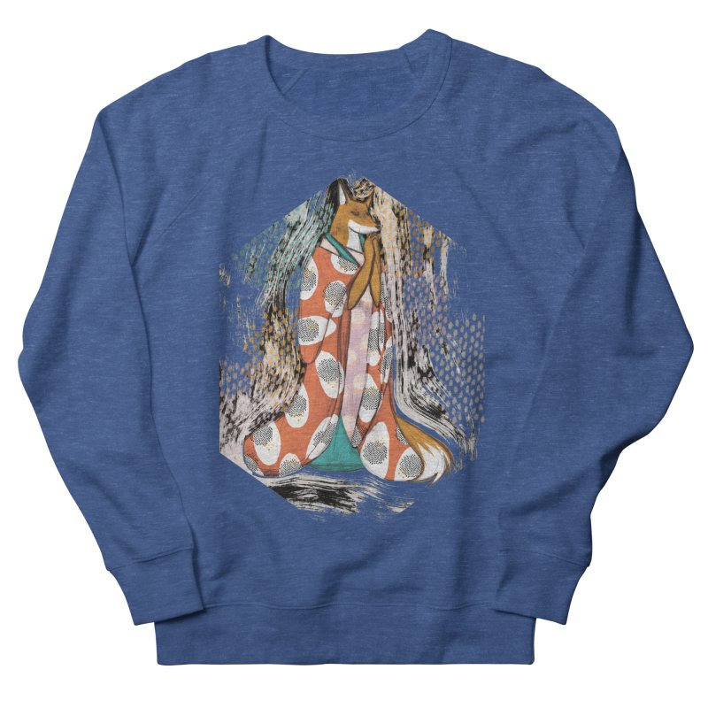 Madame Kitsune - fox illustration inspired by japanese folklore Women's French Terry Sweatshirt by Tostoini