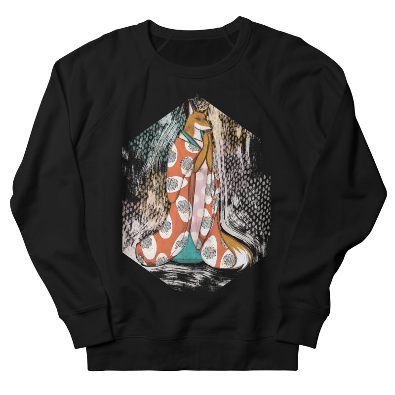 Madame Kitsune - fox illustration inspired by japanese folklore Men's French Terry Sweatshirt by Tostoini