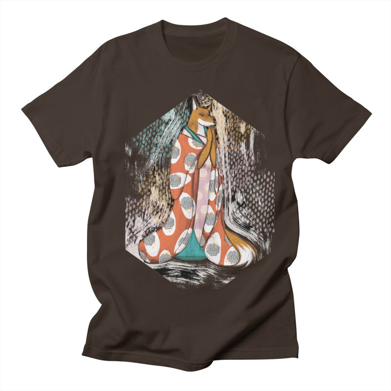 Madame Kitsune - fox illustration inspired by japanese folklore Men's Regular T-Shirt by Tostoini