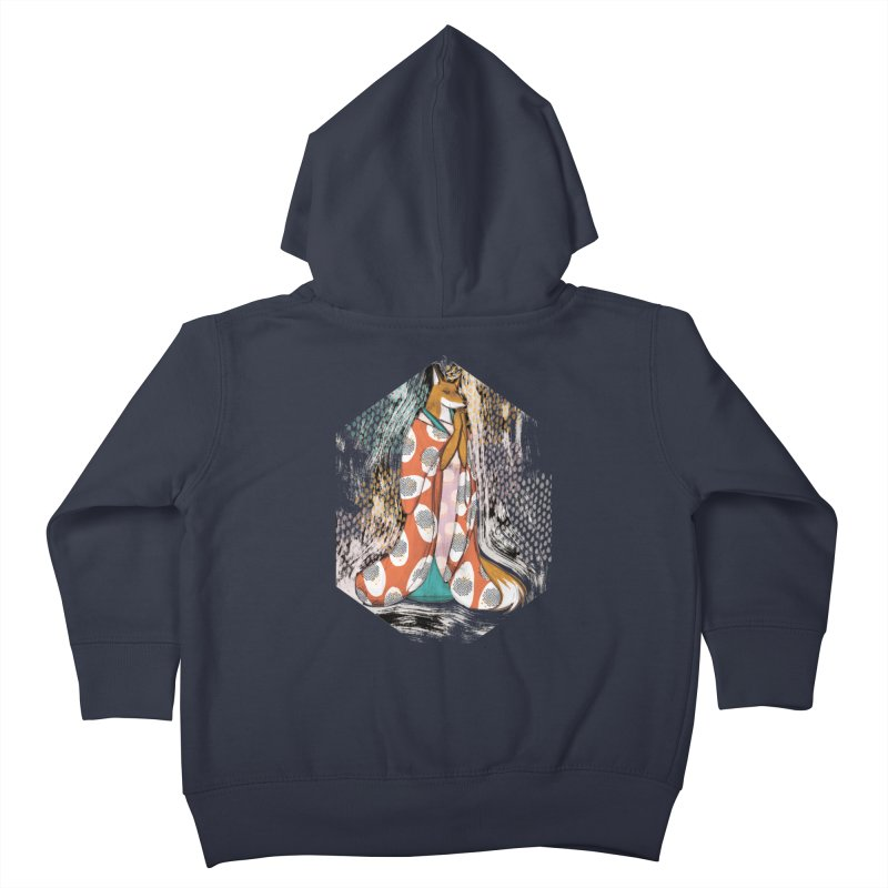 Madame Kitsune - fox illustration inspired by japanese folklore Kids Toddler Zip-Up Hoody by Tostoini