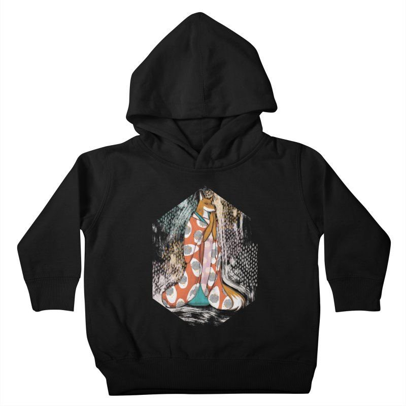 Madame Kitsune - fox illustration inspired by japanese folklore Kids Toddler Pullover Hoody by Tostoini