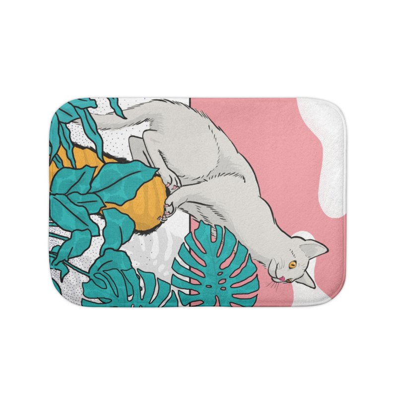 My cat the jungle explorer Home Bath Mat by Tostoini