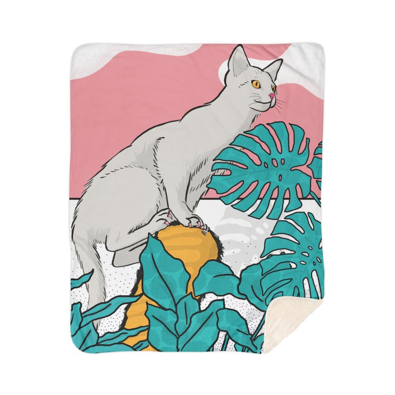My cat the jungle explorer Home Blanket by Tostoini