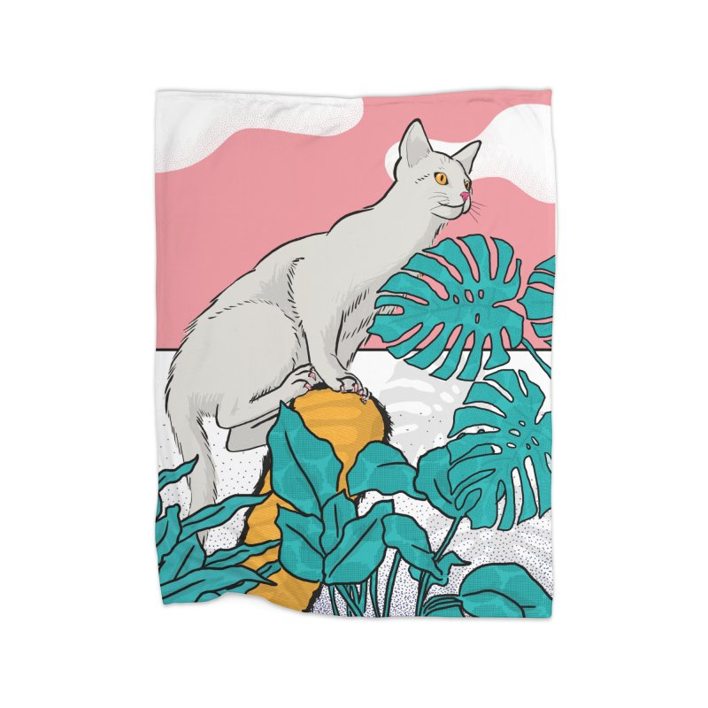 My cat the jungle explorer Home Fleece Blanket Blanket by Tostoini