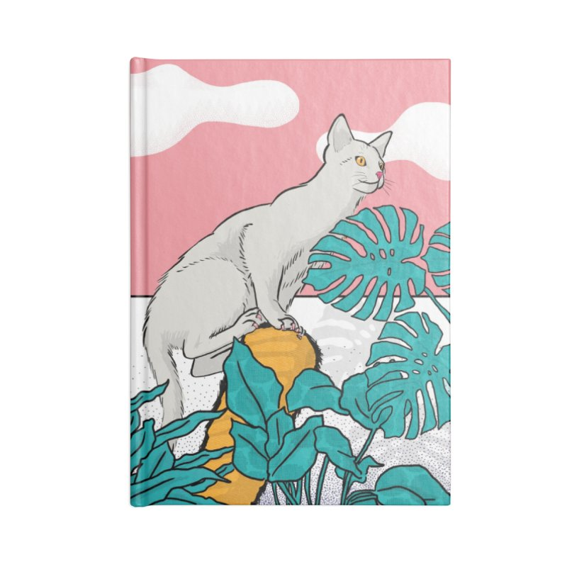 My cat the jungle explorer Accessories Lined Journal Notebook by Tostoini