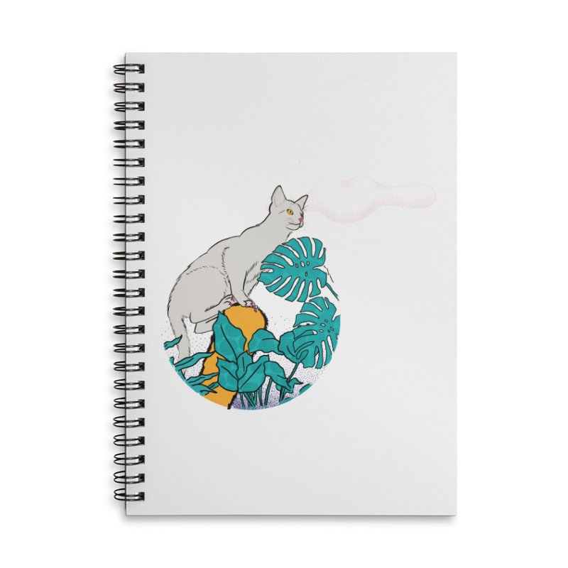 My cat the jungle explorer Accessories Lined Spiral Notebook by Tostoini