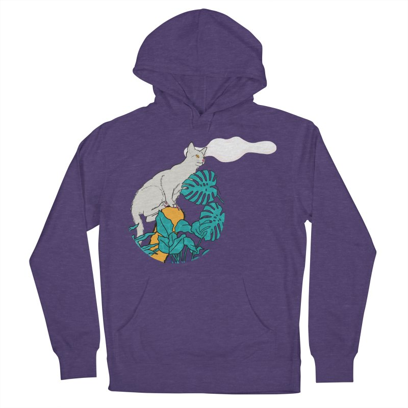 My cat the jungle explorer Women's French Terry Pullover Hoody by Tostoini