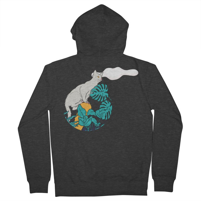 My cat the jungle explorer Men's French Terry Zip-Up Hoody by Tostoini
