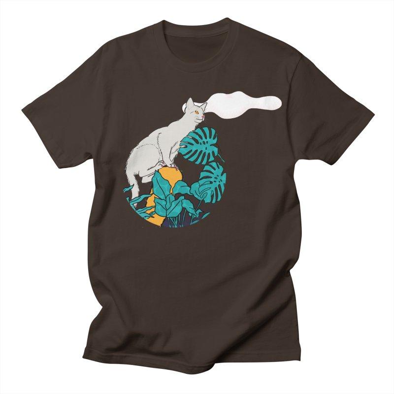 My cat the jungle explorer Men's Regular T-Shirt by Tostoini