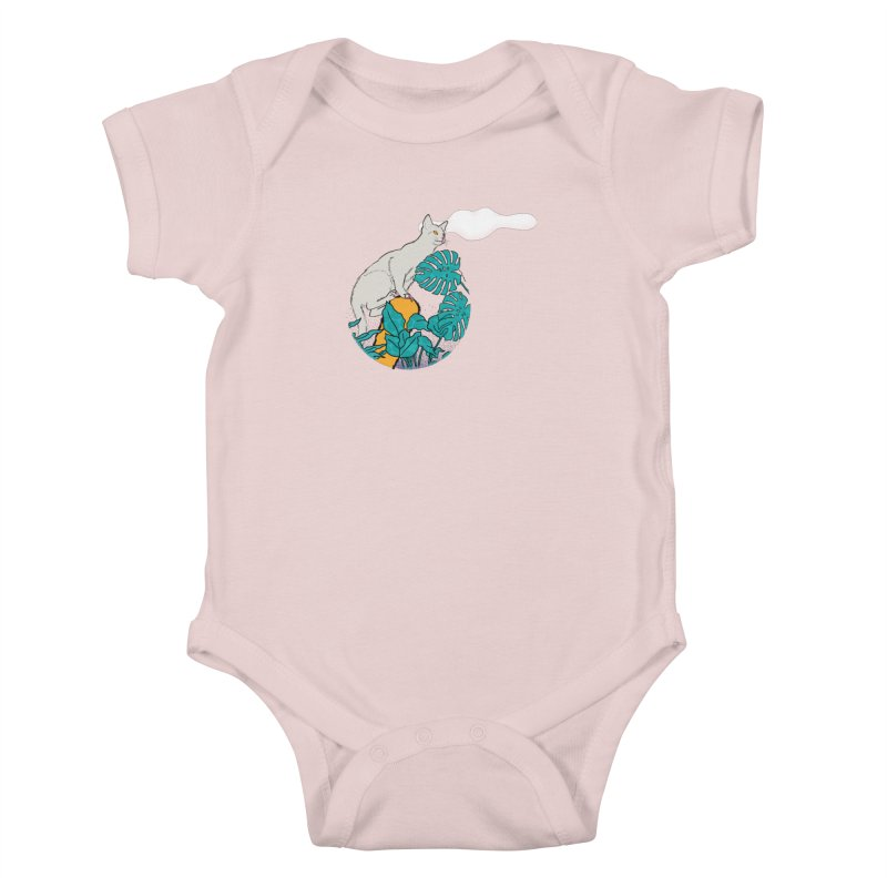 My cat the jungle explorer Kids Baby Bodysuit by Tostoini