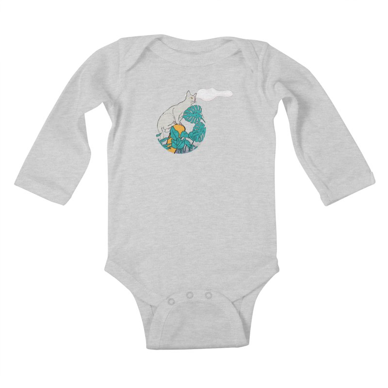 My cat the jungle explorer Kids Baby Longsleeve Bodysuit by Tostoini