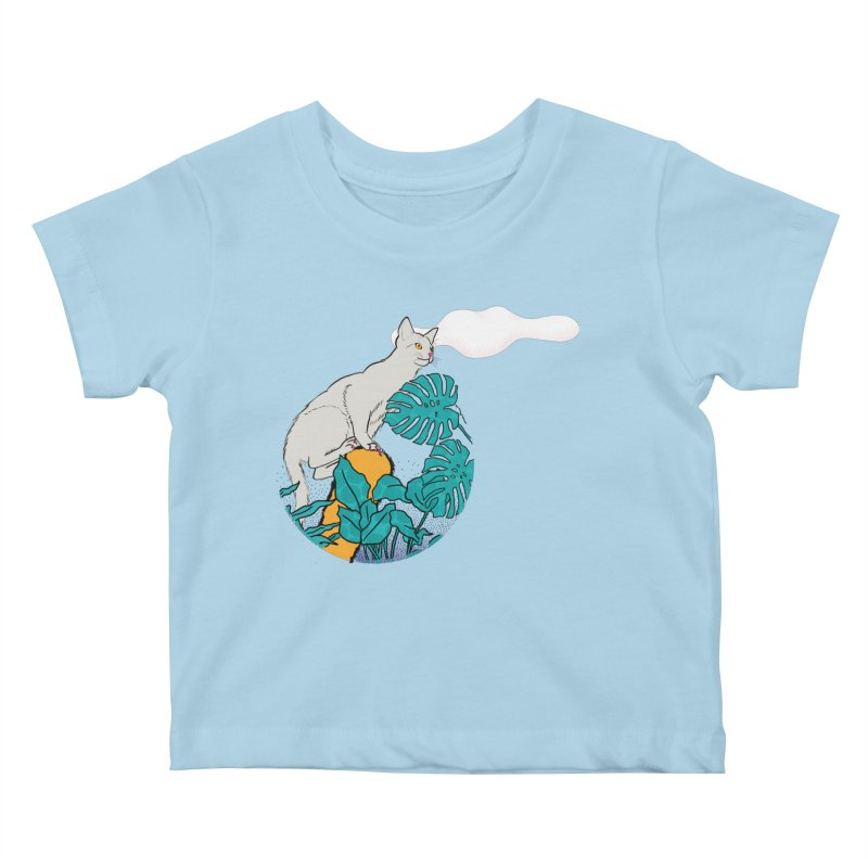 My cat the jungle explorer Kids Baby T-Shirt by Tostoini