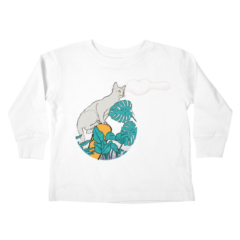 My cat the jungle explorer Kids Toddler Longsleeve T-Shirt by Tostoini