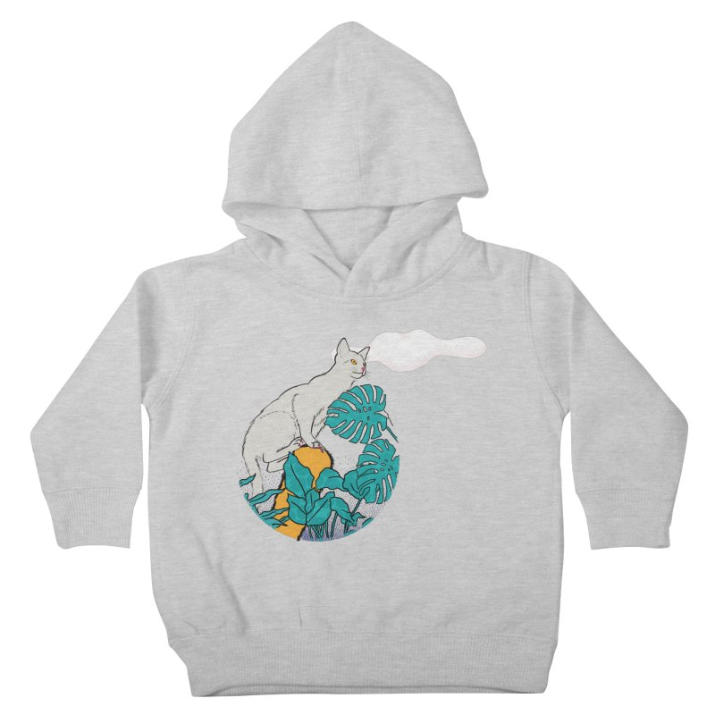 My cat the jungle explorer Kids Toddler Pullover Hoody by Tostoini