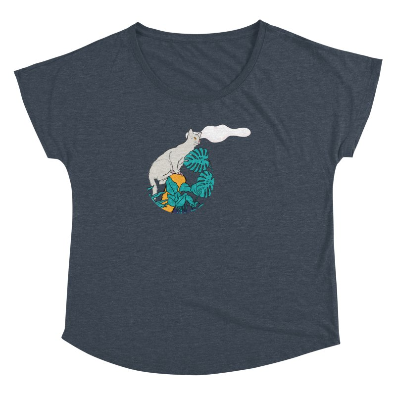 My cat the jungle explorer Women's Dolman Scoop Neck by Tostoini