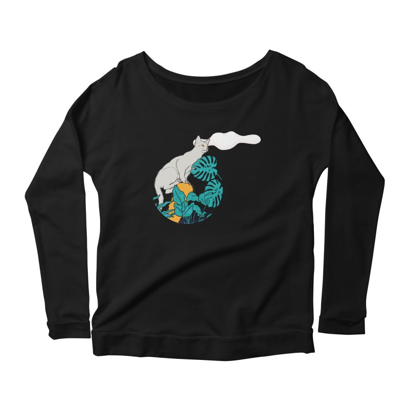 My cat the jungle explorer Women's Scoop Neck Longsleeve T-Shirt by Tostoini