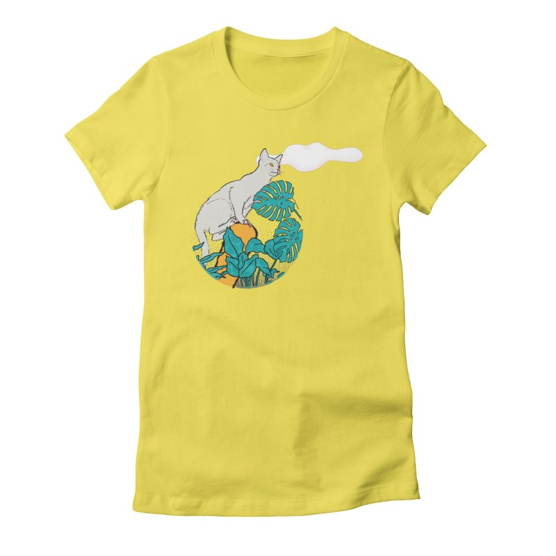 My cat the jungle explorer Women's Fitted T-Shirt by Tostoini