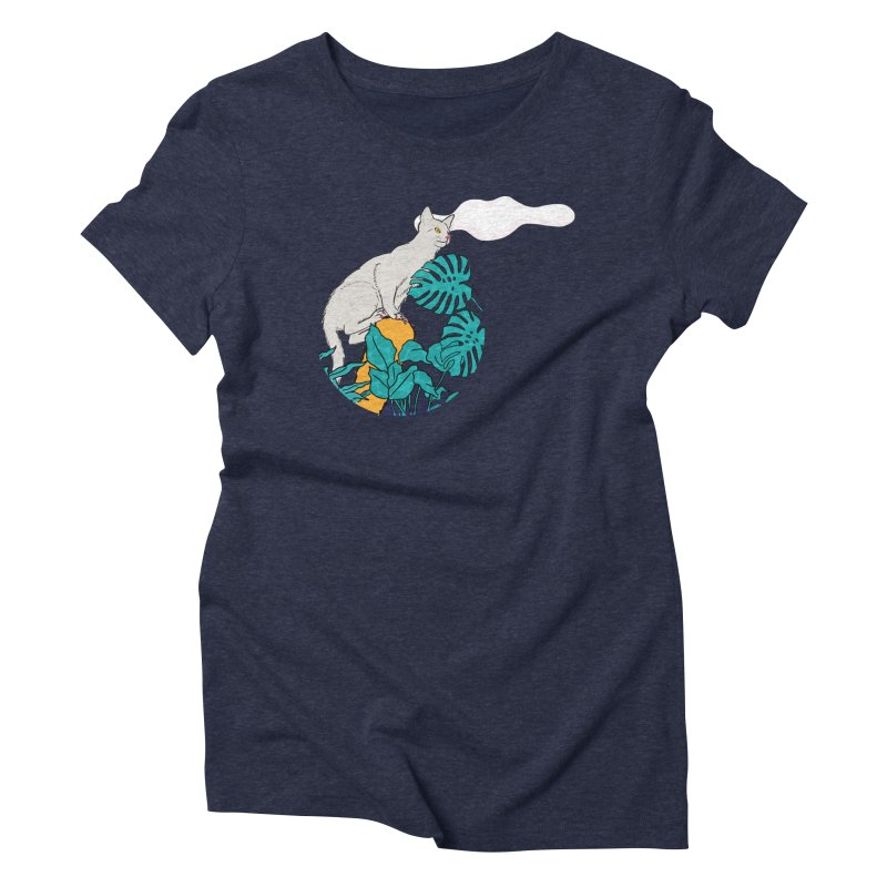 My cat the jungle explorer Women's Triblend T-Shirt by Tostoini