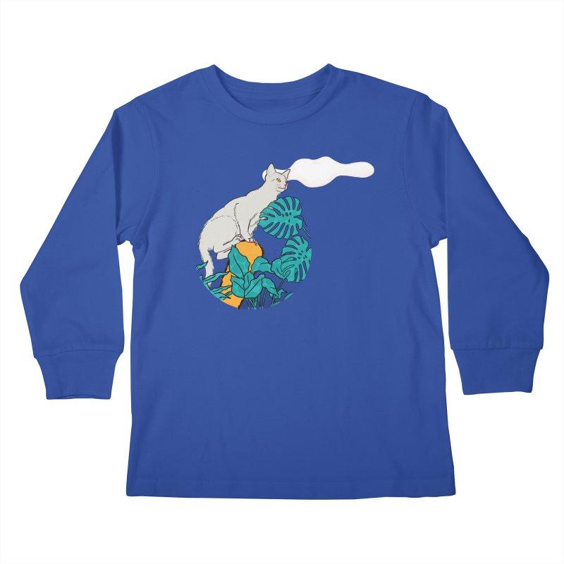My cat the jungle explorer Kids Longsleeve T-Shirt by Tostoini