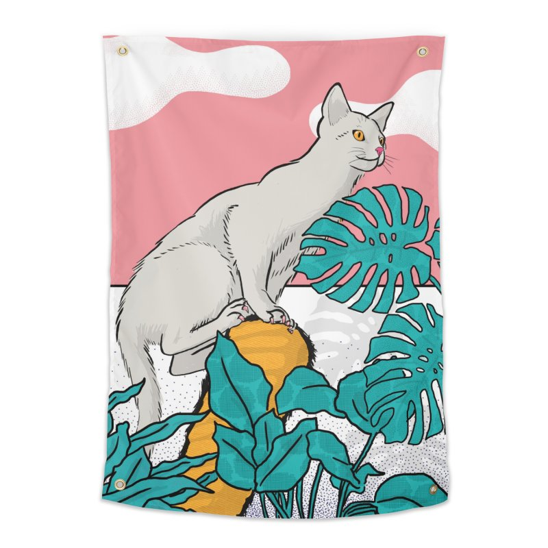 My cat the jungle explorer Home Tapestry by Tostoini