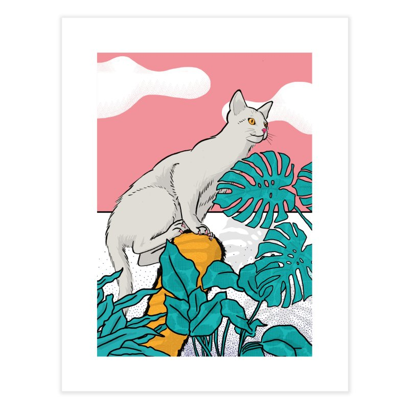 My cat the jungle explorer Home Fine Art Print by Tostoini