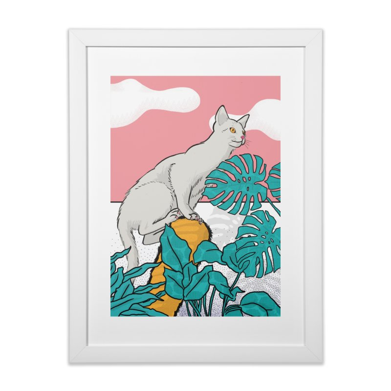 My cat the jungle explorer Home Framed Fine Art Print by Tostoini