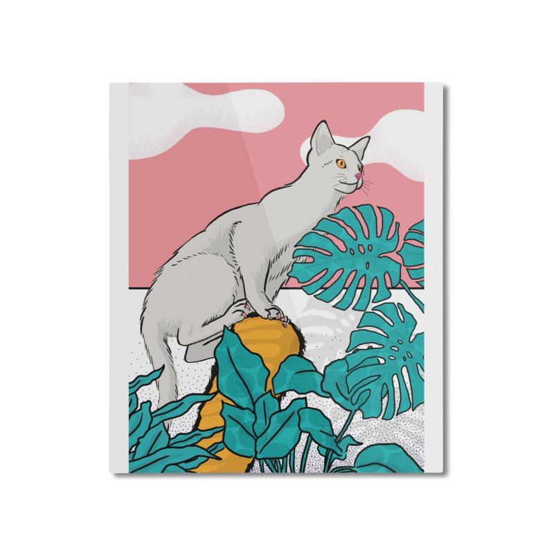 My cat the jungle explorer Home Mounted Aluminum Print by Tostoini