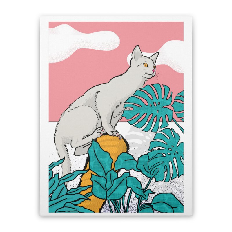 My cat the jungle explorer Home Stretched Canvas by Tostoini
