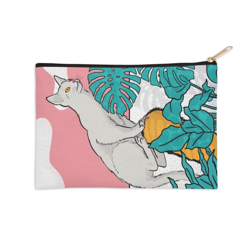My cat the jungle explorer Accessories Zip Pouch by Tostoini