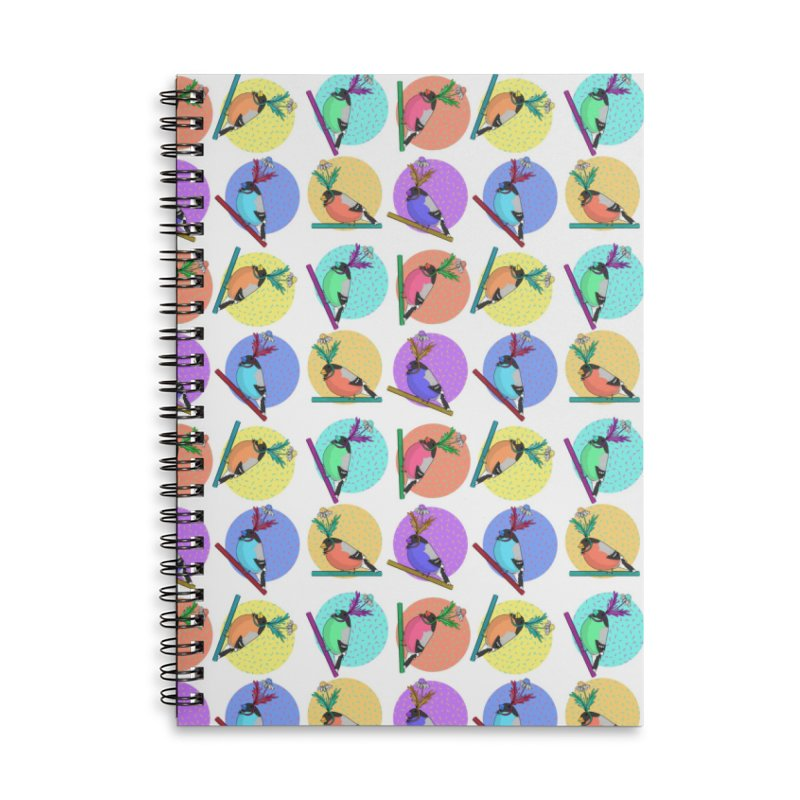 Birds of a feather nest together Accessories Lined Spiral Notebook by Tostoini