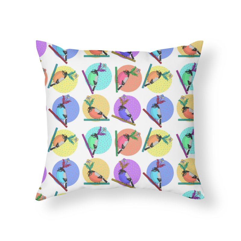 Birds of a feather nest together Home Throw Pillow by Tostoini