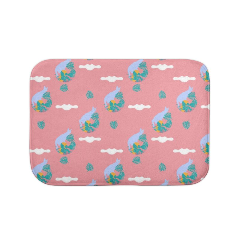 My cat the jungle explorer colorful pattern Home Bath Mat by Tostoini