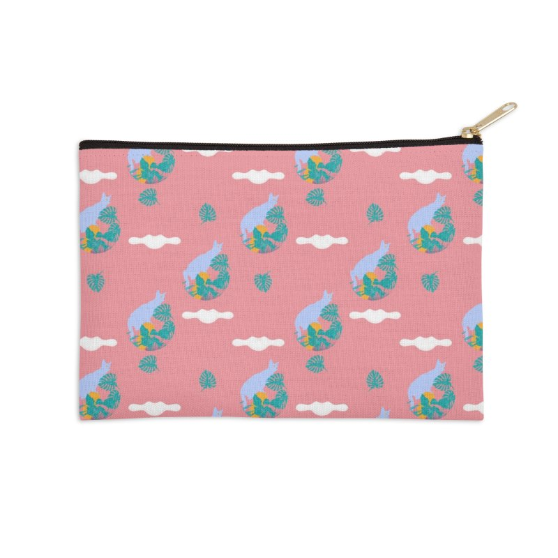 My cat the jungle explorer colorful pattern Accessories Zip Pouch by Tostoini