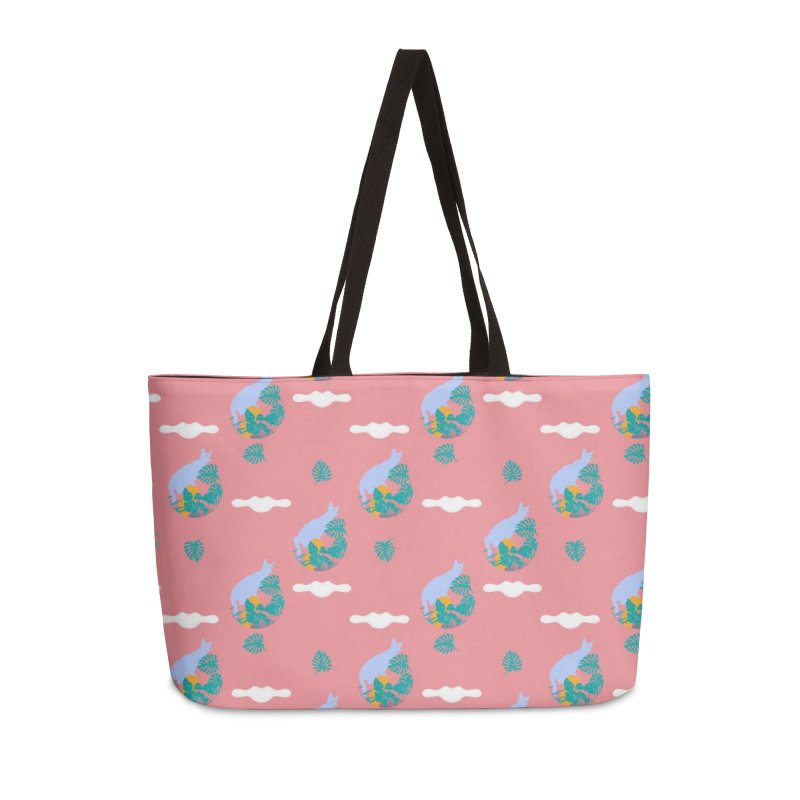 My cat the jungle explorer colorful pattern Accessories Weekender Bag Bag by Tostoini