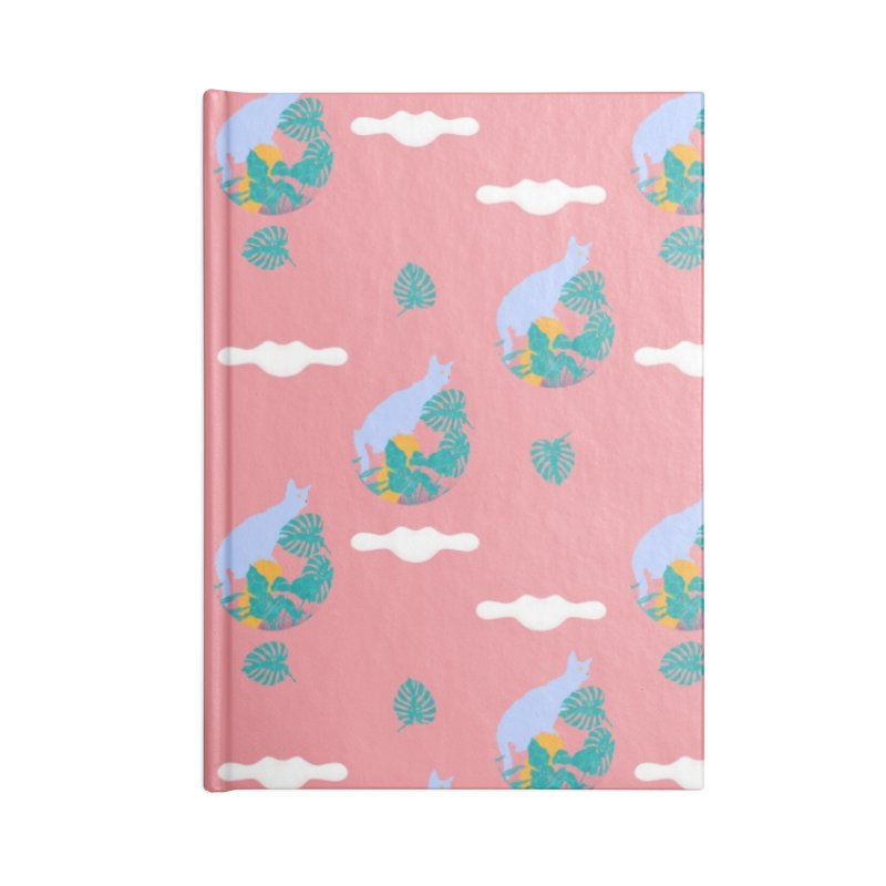 My cat the jungle explorer colorful pattern Accessories Lined Journal Notebook by Tostoini