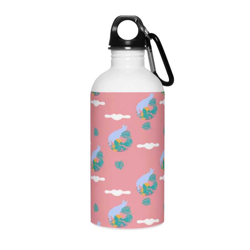 My cat the jungle explorer colorful pattern Accessories Water Bottle by Tostoini