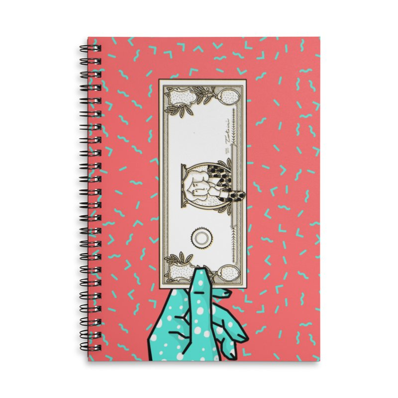 The color of money Accessories Lined Spiral Notebook by Tostoini