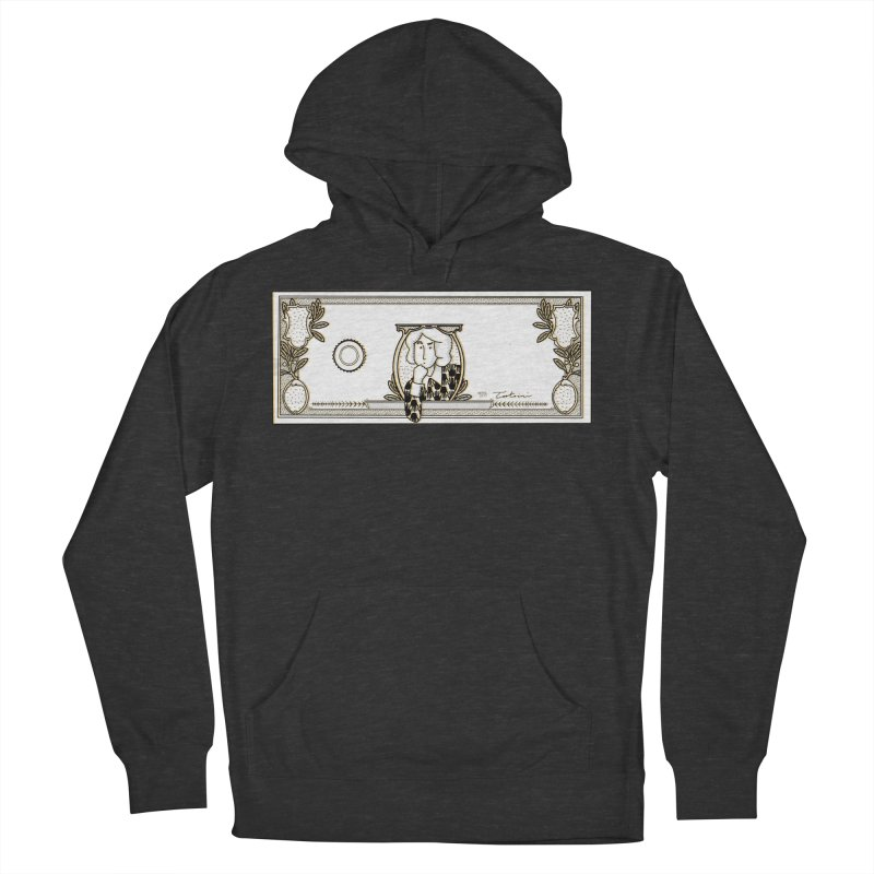 The color of money Women's French Terry Pullover Hoody by Tostoini